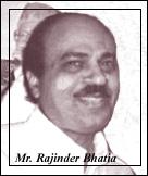 Mr. Rajinder Bhatia
