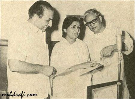 Mohd Rafi and Lata Mangeshkar