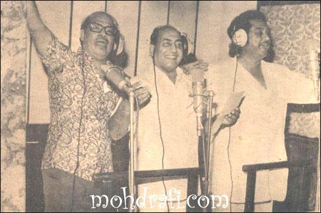 Rafi, Kishore Da and Manna Dey