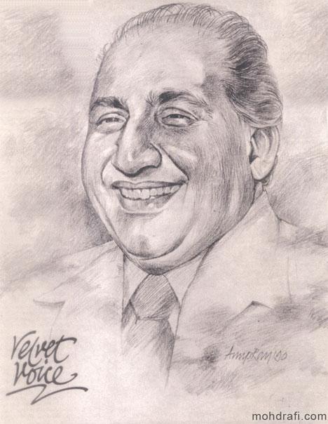 A Sketch of Mohd Rafi