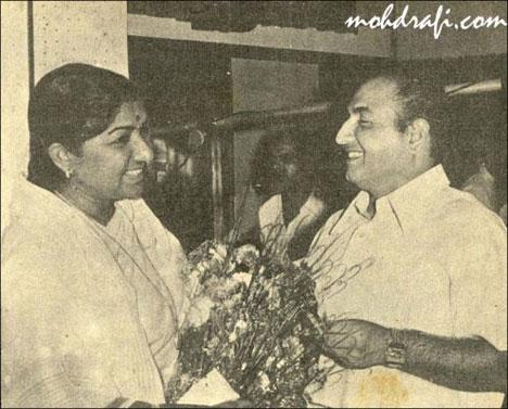 Lata Mangeshkar and Mohd Rafi