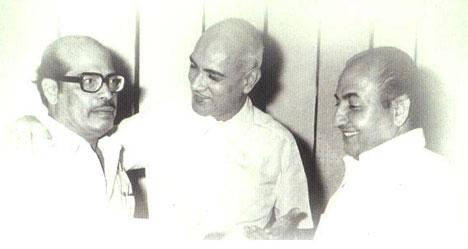 Manna Dey, O.P.Nayyar and Mohd Rafi