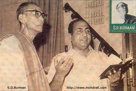 Rafi with S.D.Burman