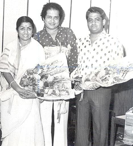 Laxmikant Pyarellal with Lata Mangeshkar
