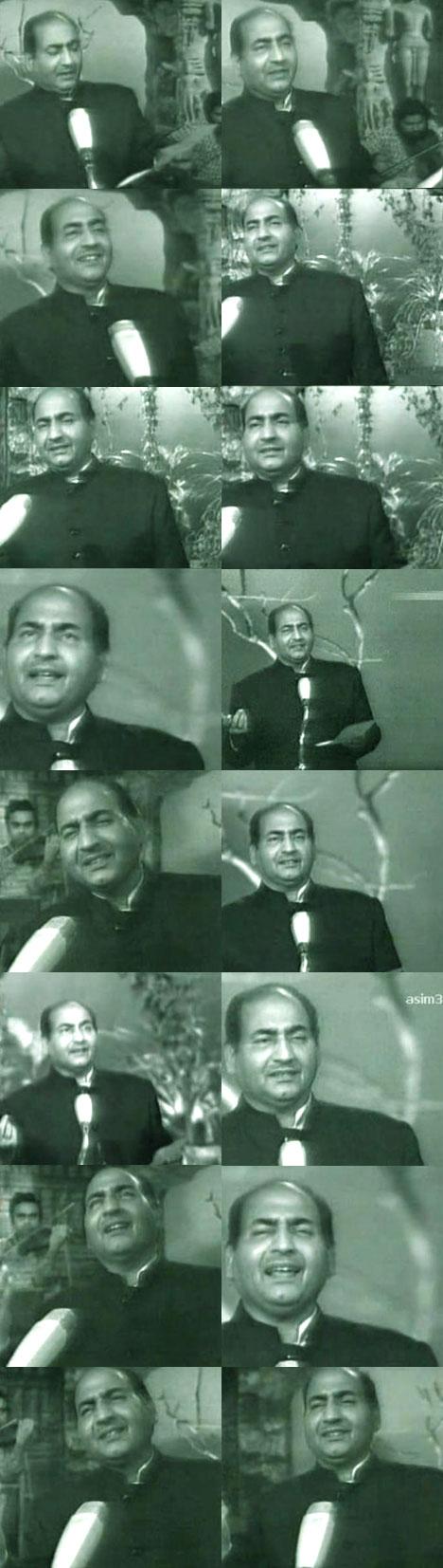 Rafi Sahab singing O Duniya Ke Rakhwale