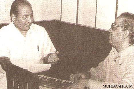 Mohd Rafi with Iqbal Quershi