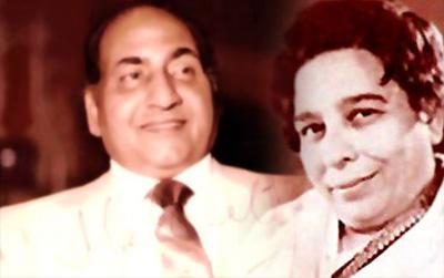 Mohd Rafi and Shamshad Begum