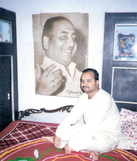 Me at the feet of Rafi Saheb