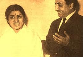 Mohd Rafi with Lata Mangeshkar