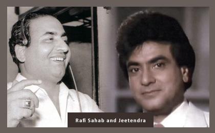 Mohd Rafi with Jeetendra