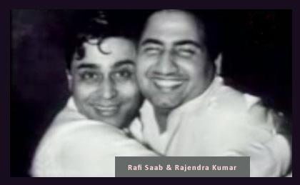Mohammed Rafi Saab with Rajendra Kumar