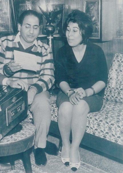 Mohd Rafi with Afgan Singer Jhela