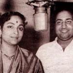 Mohd Rafi with Geeta Dutt