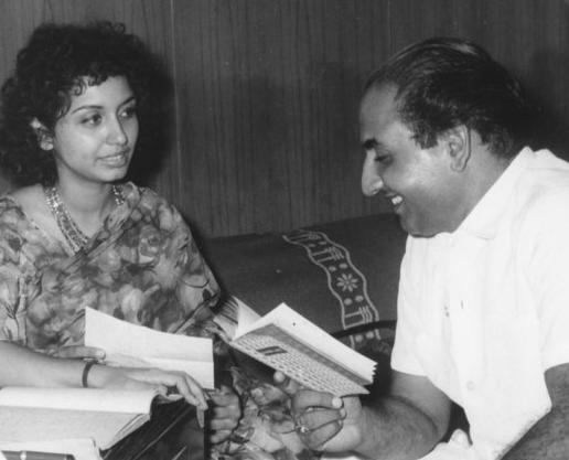 Mohd Rafi with Sharada