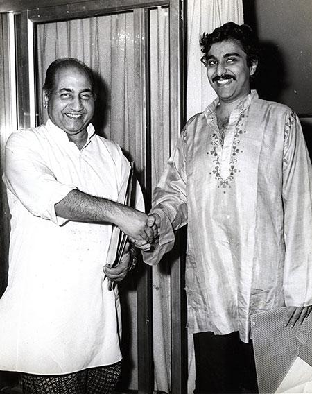 Mohd Rafi with Sanjeev Kohli