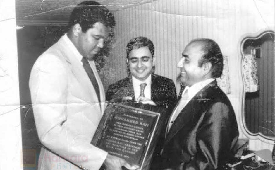 Mohd Rafi with Muhammad Ali