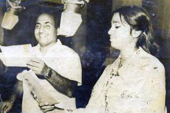 Usha Timothy with Rafi Sahib